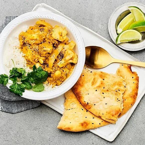 Currygryta med pulled oats och blomkål
