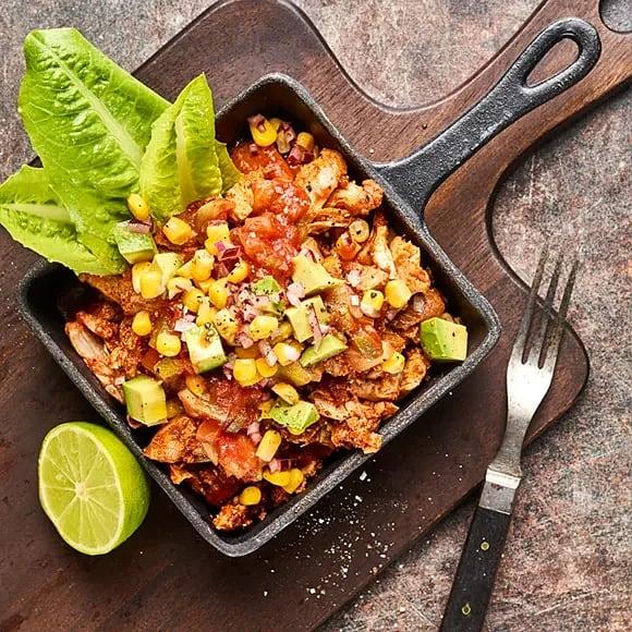 Pulled chicken med salsa och avokado