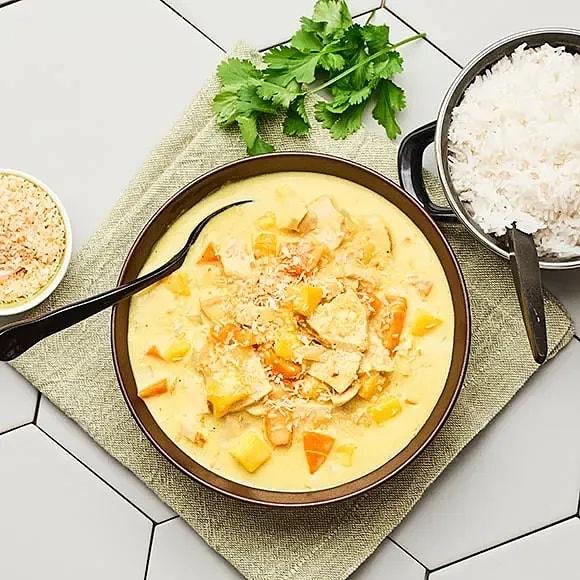 Kyckling i currysås med morot och mango