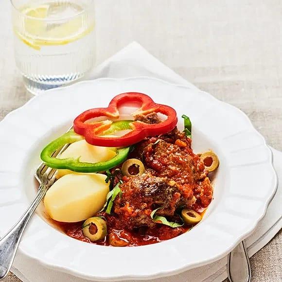 Köttfärslimpor med oliver
