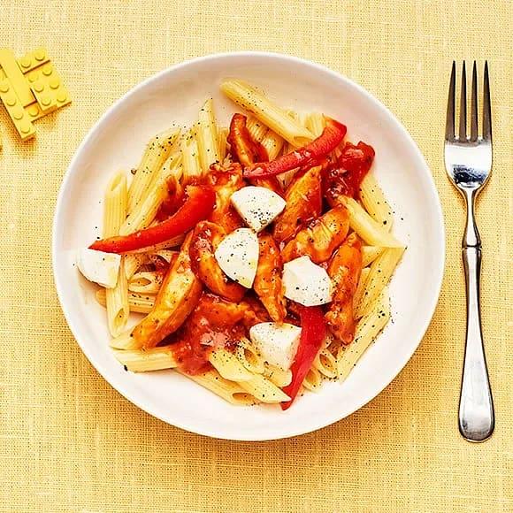 Kycklingpasta med mozzarella