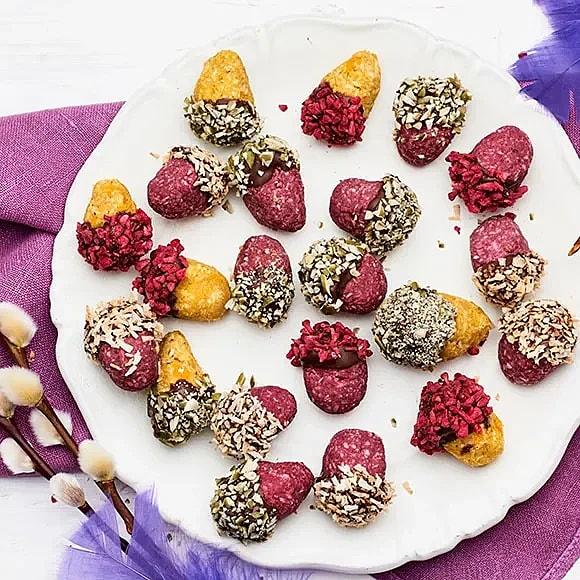 Veganska påskägg med choklad