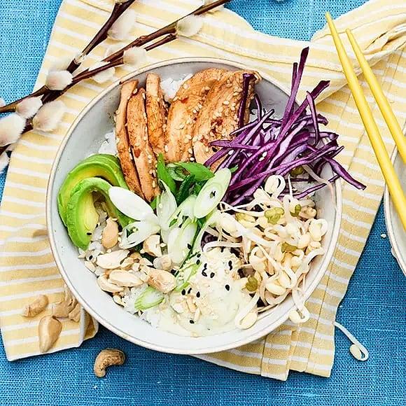 Påské bowl med lammstek eller kyckling