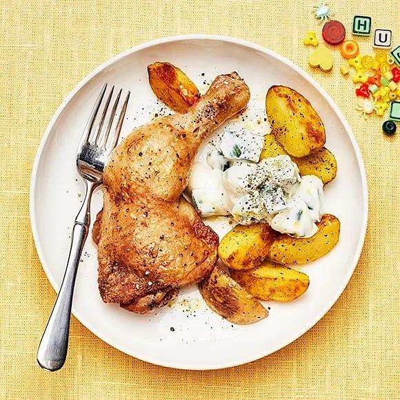 Kycklingklubba med tzatziki