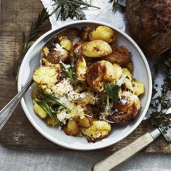 Krossrostad potatis med dragonkräm