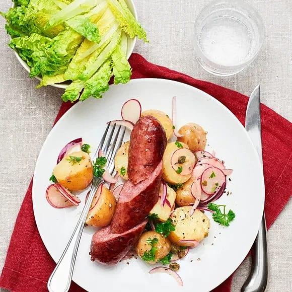 Salsiccia med ljummen potatissallad