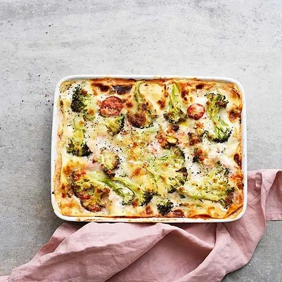 Broccoli- och mascarponelasagne