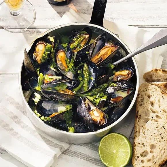 Veteölskokta musslor