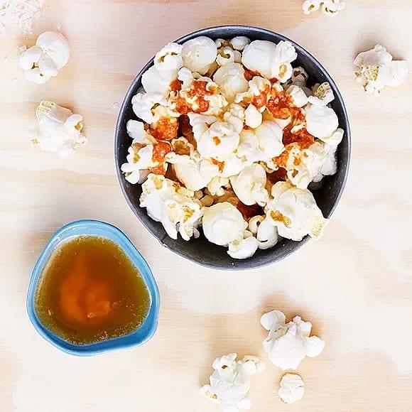 Popcorn med chili och lime