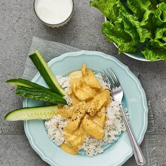 Gul kyckling med ris