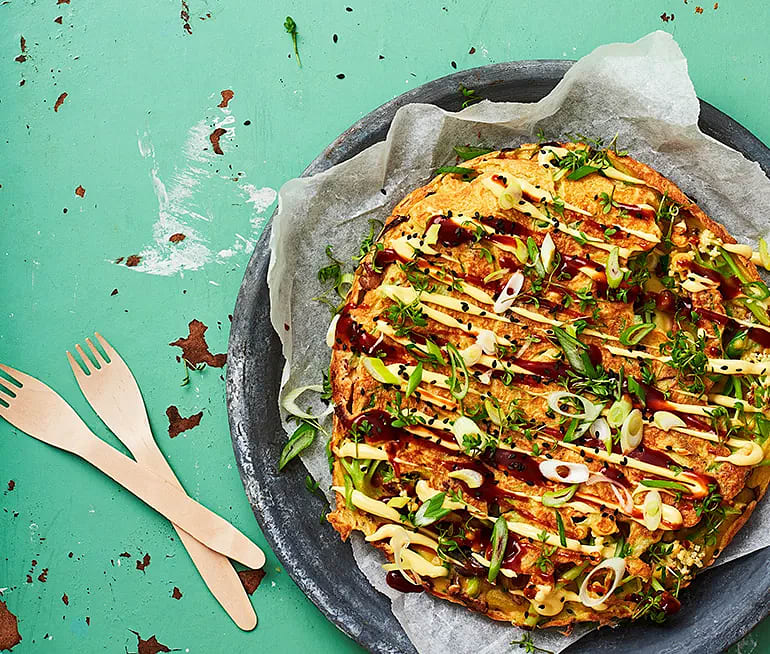 Okonomiyaki med bukettblomkål