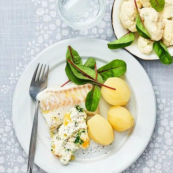 Torsk med äggkräm