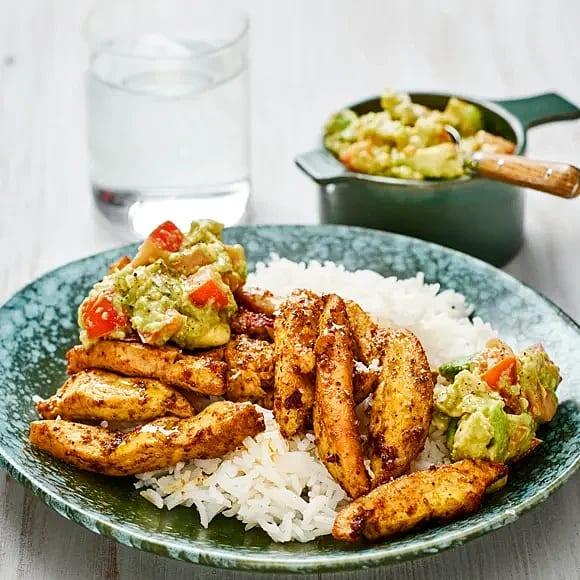 Kycklingfajitas med guacamole