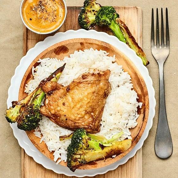 Kycklinglår med rostad broccoli
