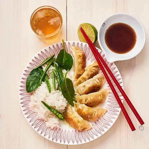 Dumplings med anka och ingefära
