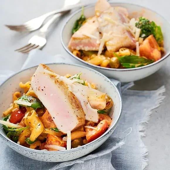 Tonfisk med paprikapasta