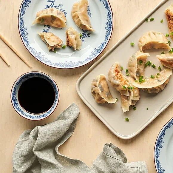 Gyoza med tofu, shiitakesvamp och ingefära