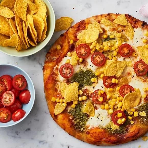 Snabblagad pizza med tacotopping