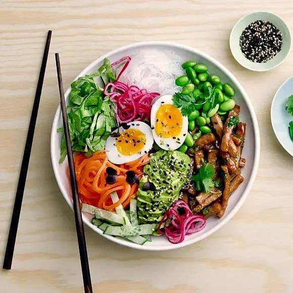 Bowl med asiatiska smaker