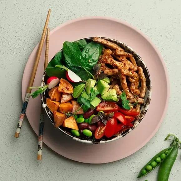 BBQ bowl med rostad sötpotatis