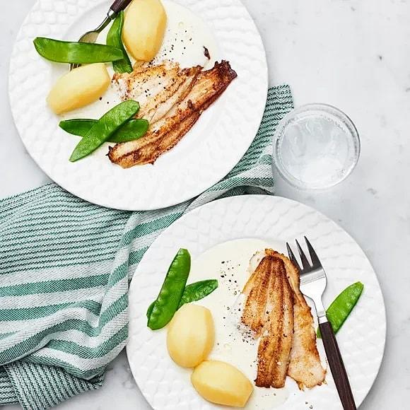 Stekt spätta med citronsås
