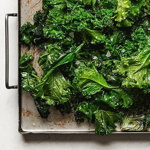 Stekt grönkål med vitlök