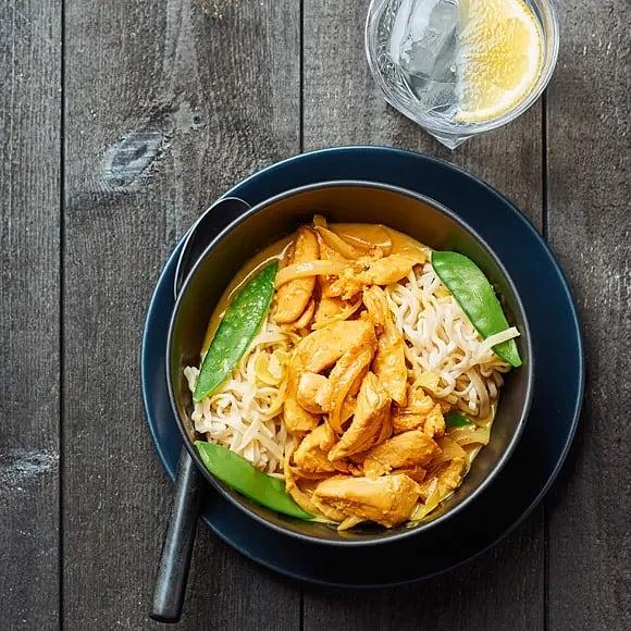 Gul currygryta med kokosmjölk