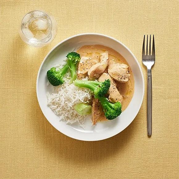 Kyckling i tacosås med broccoli