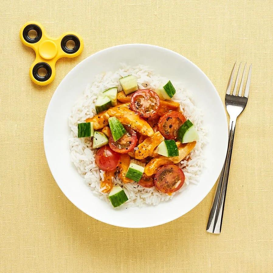 Chicken tikka masala med ris