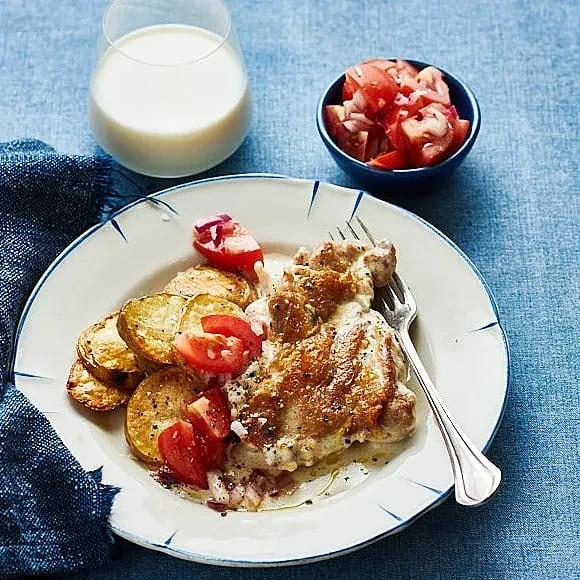 Kycklingsteak med rostade potatisskivor
