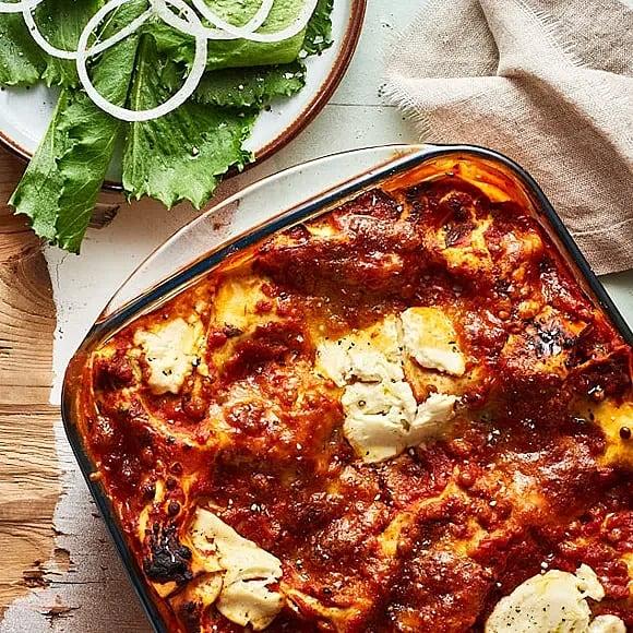 Linslasagne med paprika och mozzarella