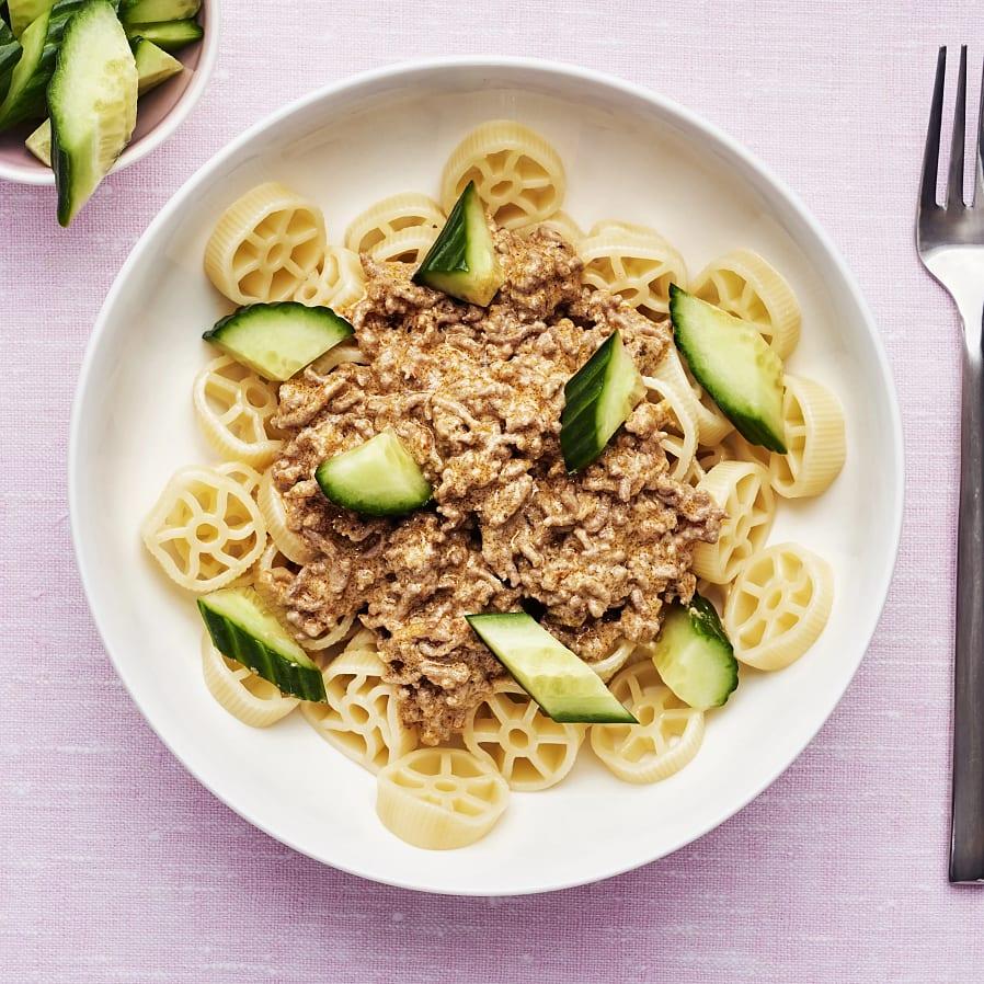 Köttfärsgryta med pasta
