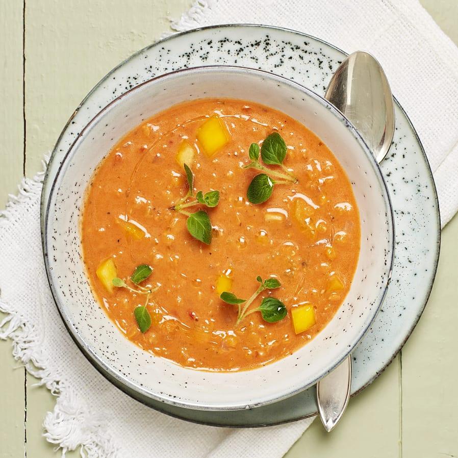 Tomat- och linssoppa