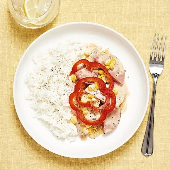 Kycklingstroganoff med paprika