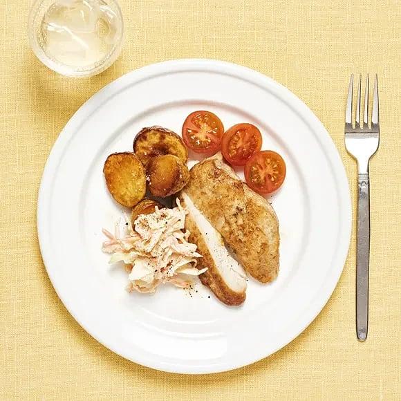 Kyckling med coleslaw
