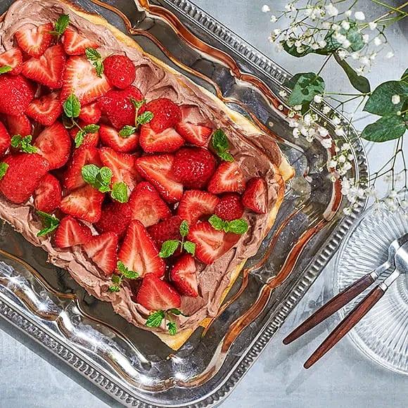 Sommartårta i långpanna