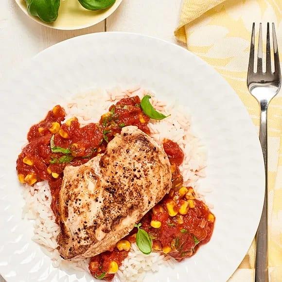 Kyckling med tomatsås