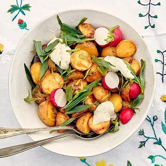 Rostad potatis med senapskräm
