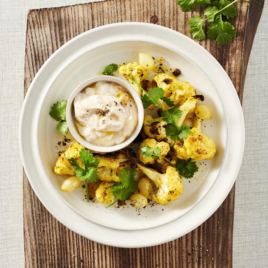 Currystekt blomkål med mandel