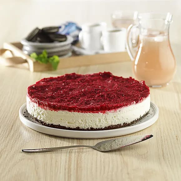 Cheesecake med vit choklad och Oreo