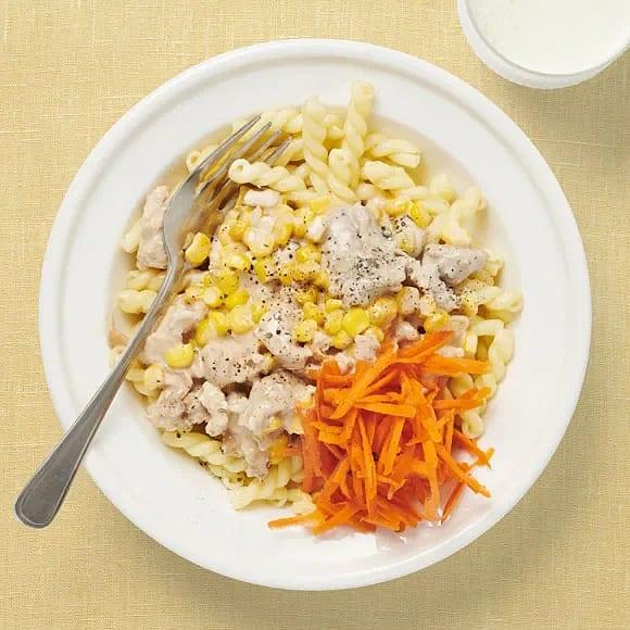 Kycklingfärsgryta med majs
