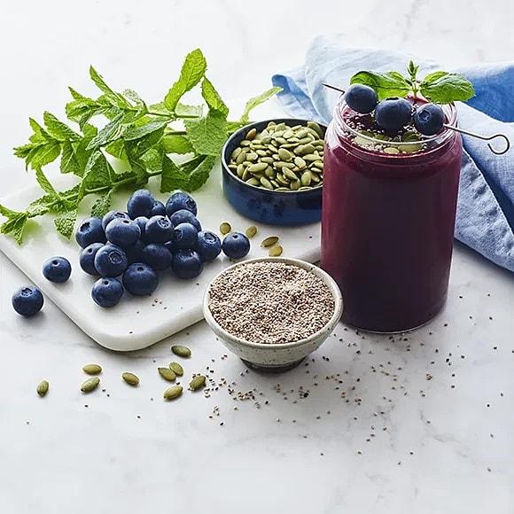 Blåbärssmoothie med vanilj