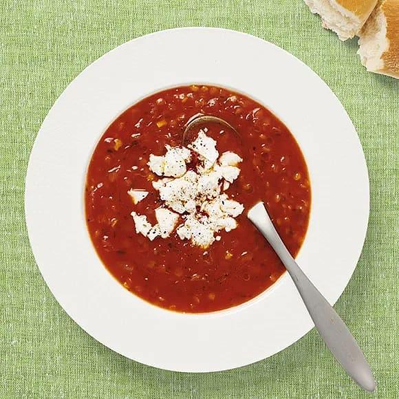 Enkel tomat- och linssoppa