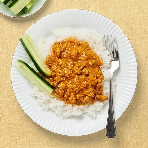 Chicken korma med ris