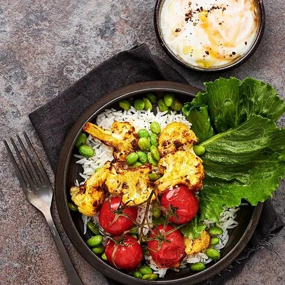 Curryrostad blomkål med mangosås