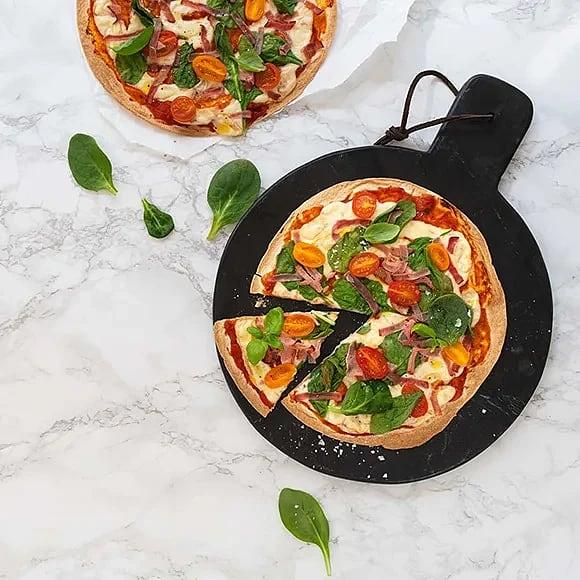 Tortillapizza med skinkost