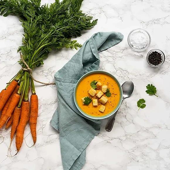 Morotssoppa med mildost