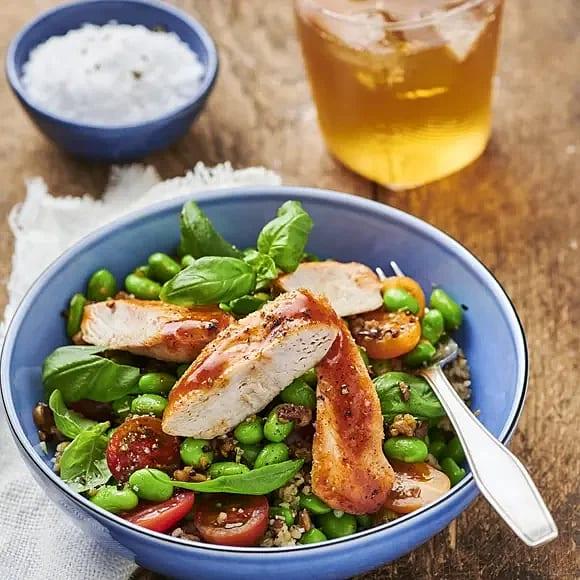 BBQ-kyckling med grynbowl