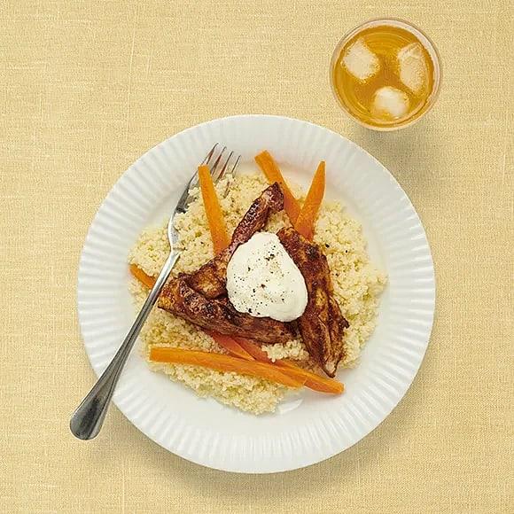 Kyckling med couscous och tandooriyoghurt