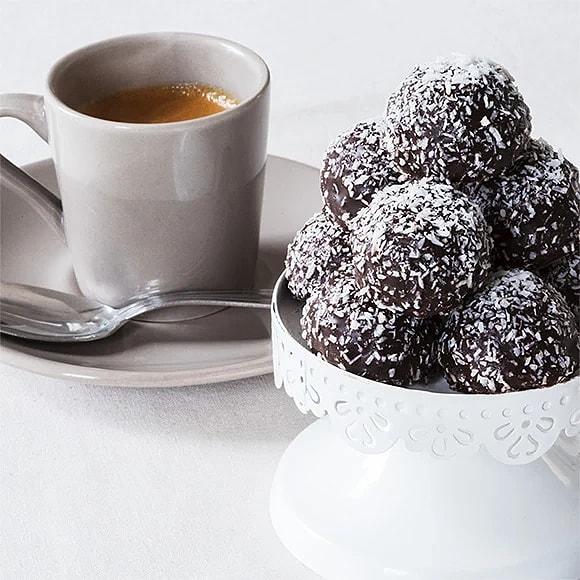 Chokladbollar med bryggkaffe
